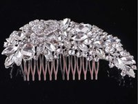 Wholesale 2016 NEW Wedding bridal headdress bridal Hair Accessories luxury Full drill Pan head Edge comb tuck comb Wedding Accessories HY1583
