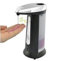 Wholesale 400ml Automatic Hands Free Sensor Liquid Soap Dispenser Hand Sanitizer Without Tactile cm cm cm Practical High Quality