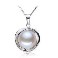Wholesale Real Pearl Pendants sterling silver freshwater pearl pendant for women natural pearl pendant necklace white birthday gift