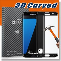 screen glass - 0 MM S7 Edge S6 Edge Screen D Protector tempered glass Full Cover Curved Glass H Hardness Screen Protector With Retailbox