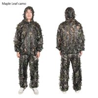 Wholesale New Arrival Tactical Military Outdoor Camouflage Suits Free Size Polyester Taffeta For Hunting Sports CL34