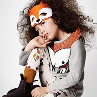 Wholesale pieces Toddler Baby Boy Girls Clothes Baby Kids fox Tops Long Sleeve T Shirts Tee Clothing