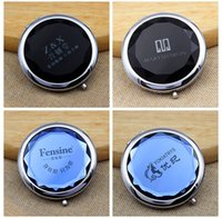 Wholesale Free lettering customized gift CRYSTAL Pocket Mirror customized LOGO Compact Mirrors DHL