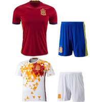 Wholesale Spain soccer sets soccer jersey Spain euro white red spain football shirt TORRES XAVI FABREGAS Camiseta de futbol tracksuit