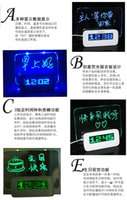 asus electronics - Free ship authentic multifunctional ASUS fluorescent message board alarm clock electronic mute lazy clock creative usb extension