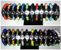 bead bracelet stretch - 10mm beads Crystal Shambala NOOSA Custom Snap Button Charm Bracelet stretch Interchangeable mm Charm Bracelet