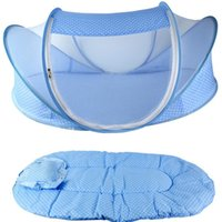 Wholesale baby bed mosquito net Baby mosquito net baby infant children mosquito net baby bed pad pillow portable foldable baby mosquito net bed