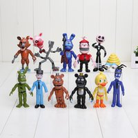 Wholesale 12pcs set cm FNAF Five Nights At Freddy s PVC Action Figure Toy Foxy Gold Freddy Chica Freddy kids toys