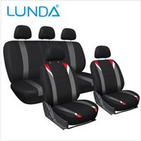 airbag car seat covers - LUNDA Universal Fit Multifunctional Flat Cloth Car Seat Covers Full Set Airbag compatible and Split Bench Appropriate most of the car