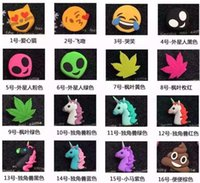 Wholesale Emoji poke poop Chargers mAs powerbank soft PVC unicorn poop devil horse skull power bank smart phone charger with box hot LJJH1455