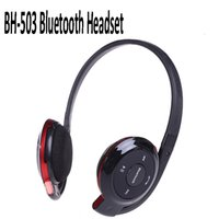 bh headphones - Bluetooth Stereo Wireless Headset FM TF Sports Headphone BH with Mic Retail Package for all mobile phone PC tablet via DHL