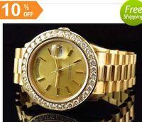 Cheap 2016 Luxury WATCHES Top quality Presidential 18038 18k Yellow Gold Diamond Watch Automatic Mens Men's Watch Watche Man Wristwatch