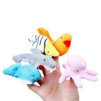 Wholesale Cartoon Animal Velvet Finger Puppet Finger Toy Finger Doll Baby Cloth Educational Hand Toy Story