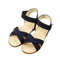 Wholesale 2016 New brand children sandals fashion PU sandals for girls Y summer flat heels child beach shoes girls