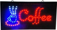 Wholesale 2016 direct selling x19 inch Semi outdoor coffee store sign Ultra Bright flashing led message signs led billboards