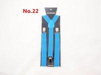 Wholesale Fashion Braces candy color clip on Braces Elastic Y back Suspenders Adjustable Braces