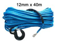 atv utv parts - mm m synthetic winch rope with hook uhmwpe rope auto parts for utv atv x4 wd off road
