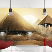 Wholesale Custom photo Silk D wallpaper for walls D living kid room hotel TV background wall covering Fiction Pyramid mural wallpaper