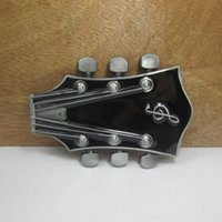 Wholesale BuckleHome guitar head belt buckle music belt buckle with pewter finish FP