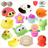 bathing bamboos cotton - Factory authentic bathing infants and young children playing in the water animal cartoon vinyl water toys