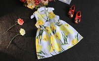 baby tulip - Fashion children girls Yellow tulip Clothing Sets Spring Autumn dress Long Sleevescoat set Cotton baby outfits kids Clothes MC0106