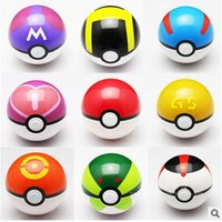 poke ball action figure models - 13 style cm Cute Pocket Poke Ball Pokeball Mini Model Classic Anime Pikachu Super Master Ball Action Figures Toys Gift Kids DHL