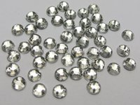 Wholesale 2000pcs fashion Clear Flatback Acrylic Sewing Round Rhinestone Gems mm Sew on beads accessories