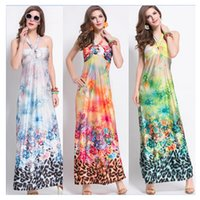 maxi skirt and dress - Beach Cnlumy new women summer holiday spring and summer Maxi dresses flora printed bohemian beach holiday dresses skirt dress DHL free