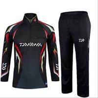 Wholesale Daiwa Warm Fishing Clothing sets men Breathable Sun UV Protection Outdoor Sportswear suit fishing shirt Fishing pants