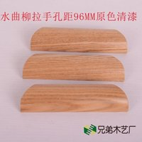 ash cabinet - Green wood ash drawer cabinet door handle handle MM log color handle pastoral style furniture handle