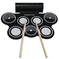 Vente en gros professionnel KONIX portable Roll Up MIDI MIDI Drum set MD759 avec Stick 7 Pad Livraison gratuite