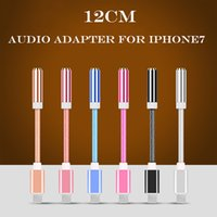 Wholesale iPhone plus earphone converter cable mm aux audio female adapter to lighting male connector headphone headset charge cord
