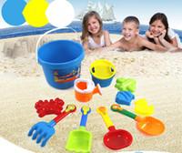 beach rakes - Cute Kids Children Seaside Bucket Shovel Rake Kit Sand Water Beach Play Toys Set