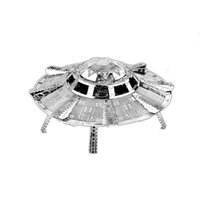 apollo model - UFO Apollo Lunar Rover Hubble Space Telescope DIY Jigsaw D Metal Puzzle Laser Cutting Assembly Model Toy Gift for Children