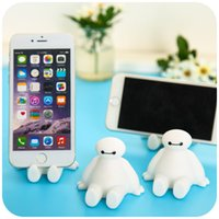 Wholesale Phone Stand For iphone plus For Samsung S5 S6 S6Edge Note4 Cute White Silicone Animal Model Phone Stand Holder