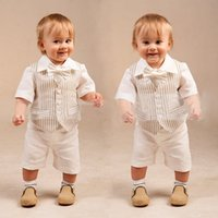 baby boy white cardigan - 2016 Baby clothes Baby boy clothes kids clothes high quality Gentleman cardigan ma jia virgin suit small suit children short sleeve cuff c