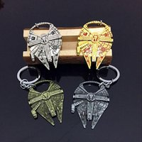 best stars cars - 2016 Best selling Star Wars keychains Millennium Falcon Metal Alloy Wine Bottle Opener movie key chain gift Party Supply
