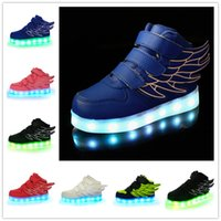 Wholesale 2016 New Hot LED Light Shoes For Baby Colors Comfortable Sport Children Shoe Genuine Leather Children Casual Shoes