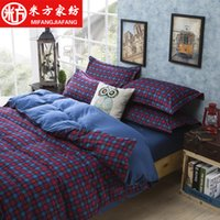 Wholesale Reactive Printing cotton duvet cover set Bedding Set More colors Full Queen King quilt cover set