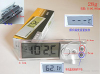 Wholesale Car thermometer sucker a bag Car electronic thermometers Transparent LCD Car Thermometer K
