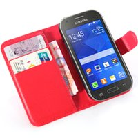 ace patterns - Fashion Wallet PU Lichee Pattern Leather Case Cover Pouch with Card Slot for Sumsung Galaxy Ace Style G310