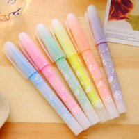 Wholesale 6pcs Novelty Highlighter Pens Marker Pen School Office Supplies Colors Creative Students Painting Writing Pen Papelaria