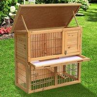 wooden crates - Deluxe Wooden Chicken Coop Rabbit Hutch Hen House Tiers Pet Cage Backyard New
