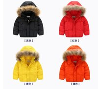 Wholesale INS children girl boy winter coat children spring autumn hooded coat children winter outwear kids cotton coat infant baby winter coat