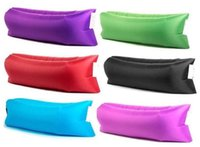 Wholesale Excellent quality strong bearing capacity nylon portable air bed sleeping bag lazy outdoor inflatable sofa folding camping inflatable bed