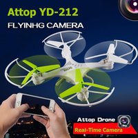 attop toys - F16714 Attop YD G CH Wifi FPV Phone RC Quadcopter Headless Drone with MP HD Camera Real Time Video Helicopter Toy RTF