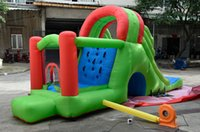 Wholesale Children s inflatable slide trampoline bed naughty castle castle playground large indoor and outdoor toys