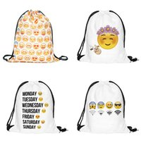 Wholesale Fashion Fullprint Drawstring Bags Travel Bags Cute Backpack Kids School Bag Cute Sports Handbag Shoulders Bag Children Party Gift