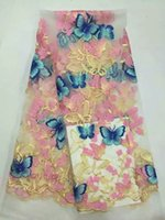 africa butterfly - MY653 high quality pure manual embroidery lace embroidery network Africa Nigeria French lace fabric muslin d butterfly pattern