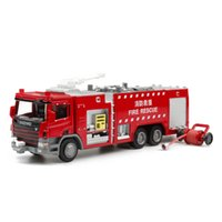 Wholesale Model Cars Diecast Car Model Fire Engine Toy Trucks Trailers Alloy Car Glow LED Pull Back Car Kids Toys Gift Items Cars